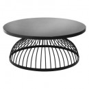 glass coffee table d. 90 kushi, black