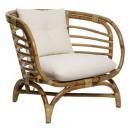 sillón de ratán farah, blanco