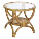 mesa auxiliar de ratán farah, beige