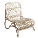 fauteuil rotin naturel tamara, beige