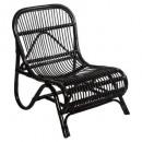 zwarte rotan fauteuil Tamara, zwart