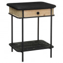 bedside table with 1 drawers arbela, black