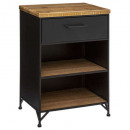 cierna 1-drawer nightstand, black