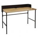 escritorio de color negro, negro