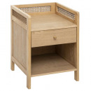 arty 1-drawer nightstand, beige
