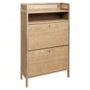 2p arty shoe cabinet, beige