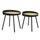 table cafe cannage arty x2, black