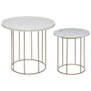 marble cafe table x2, white