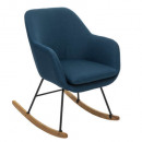 rocking chair pera can, bleu canard