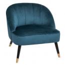fauteuil p gold duck naova, bleu canard
