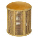 stool caning moutrd arty, ocher