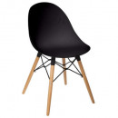 chaise polypropylene ezra nr, noir