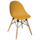 chaise polypropylene ezra oc, moutarde