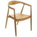 silla de comedor de teca miyako, beige