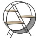 Round metal shelf s timeo base, black