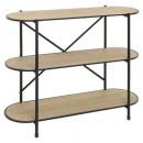 timeo 3 tier shelf, black
