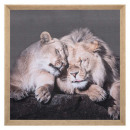 Lienzo impreso / 58x58 animales, 2 veces surtido