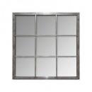 espejo de metal gris sully 64x64, gris