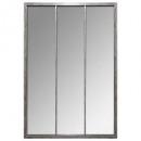 Espejo de metal gris sully 74x110, gris