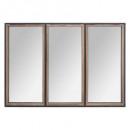 mirror wood / metal tina 74x54, brown