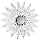 metalen ster spiegel niki d115, zwart