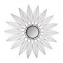 metalen ster spiegel niki d91, zwart