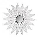 metal star mirror niki d91, black