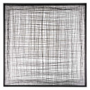 square metal wall deco 77x77, black