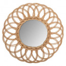 wholesale Mirrors: rattan mirror flower multi d50, brown