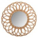 espejo de ratán flor multi d50, marrón