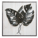 frame wood / metal leaves 48x48, 2- times assorted