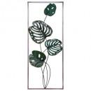 Deko-Wandbild Metallblätter 25x61, grün