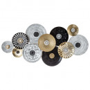 deco wall metal round 134x68, multicolored