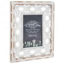 10x15 winter photo frame, white