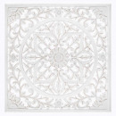 mdf sculpted wall deco 90x90, white