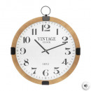 silencioso reloj mdf gouss d38, marrón