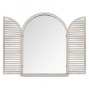 mirror wood shutter 74x104 white, white