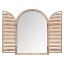 miroir bois volet 74x104 nat, beige moyen