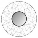 miroir metal graphique noir d50, noir
