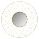 gold metal graphic mirror d50, gold