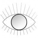 Espejo metalico ojos negros 47x40, negro.
