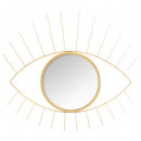 metalen spiegel gouden ogen 47x40, goud