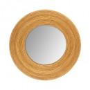 Espejo redondo madera d31, beige medio.