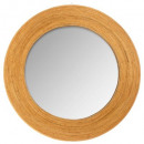 round mirror wood d50, medium beige