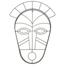 wholesale Costumes: wired african metal mask, black