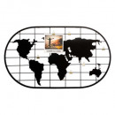 60x35 world photo holder, black