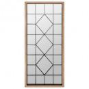 espejo de madera / metal 71x165, marrón