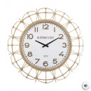 rattan clock d73, medium beige