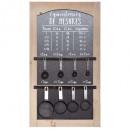 kitchen measuring board 40x70, black
