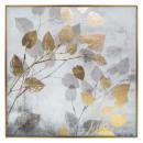 printed canvas / cad / foil foil 75x75, multicolor